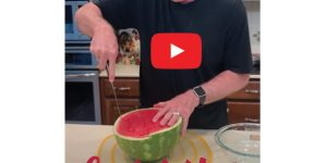 Watermelon Squares Quick and Easy with NO MESS!